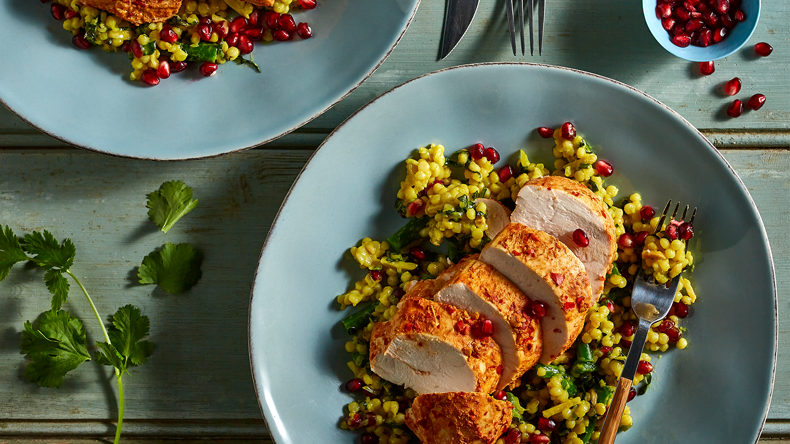 Spicy Harissa Chicken with Pearl Couscous